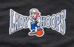 Lady Hoops Girl Embroidered