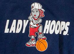 Lady Hoops Girl Printed